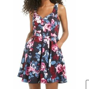 Trixxi floral fit and flare dress NWT
